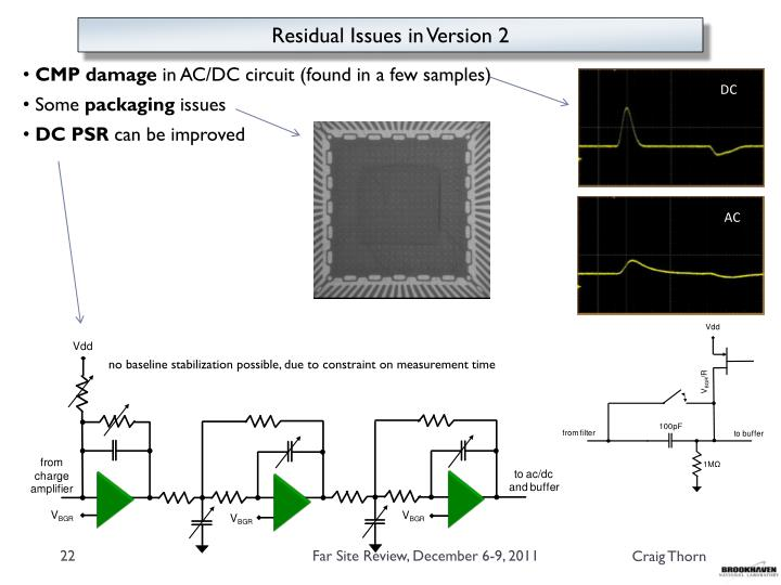 Residual Issues in Version 2