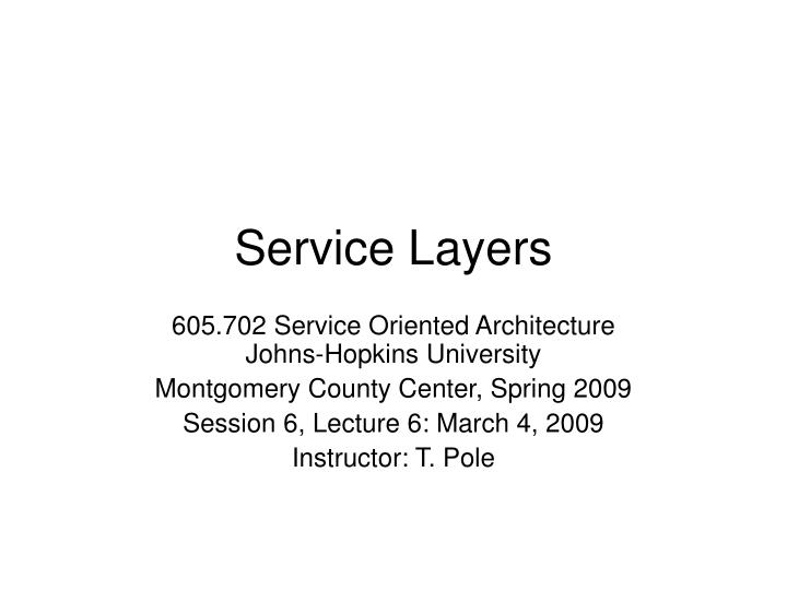 service layers n.