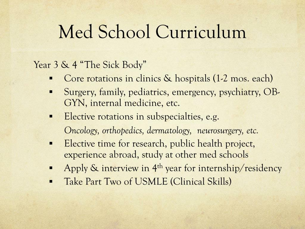 PPT - Preparing for Medical School PowerPoint Presentation