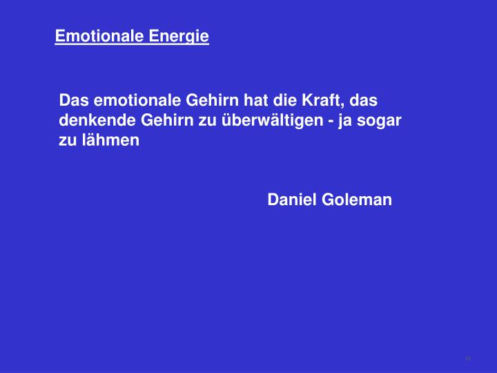 Emotionale Energie