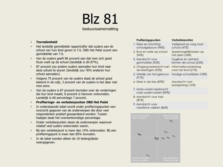 Blz 81 bestuurssamenvatting