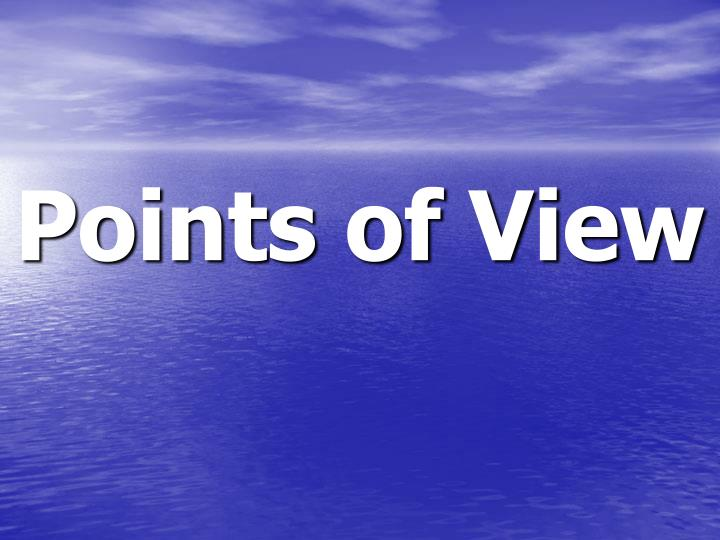 points of view n.