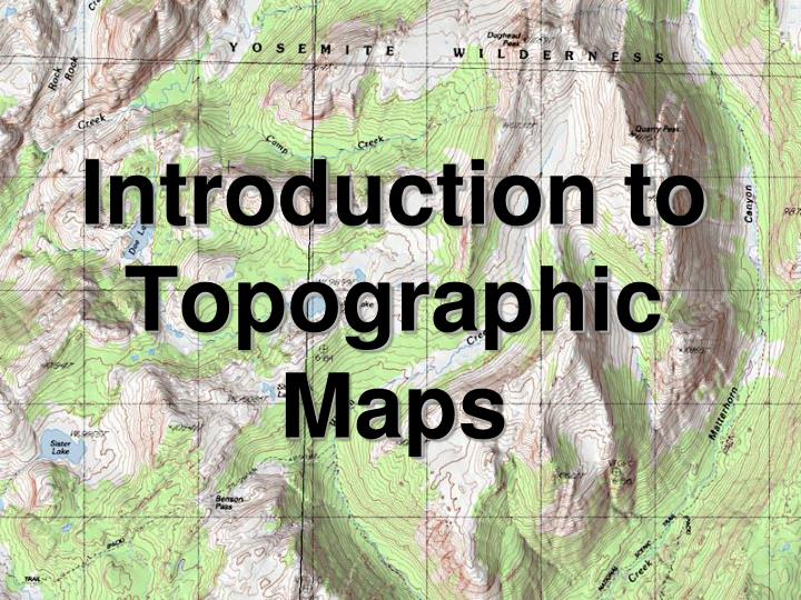 introduction to topographic maps n.