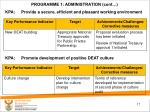 programme 1 administration cont1