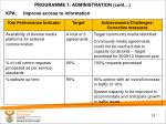 programme 1 administration cont2