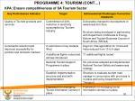 programme 4 tourism cont