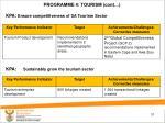 programme 4 tourism cont1