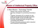 mission of intellectual property office