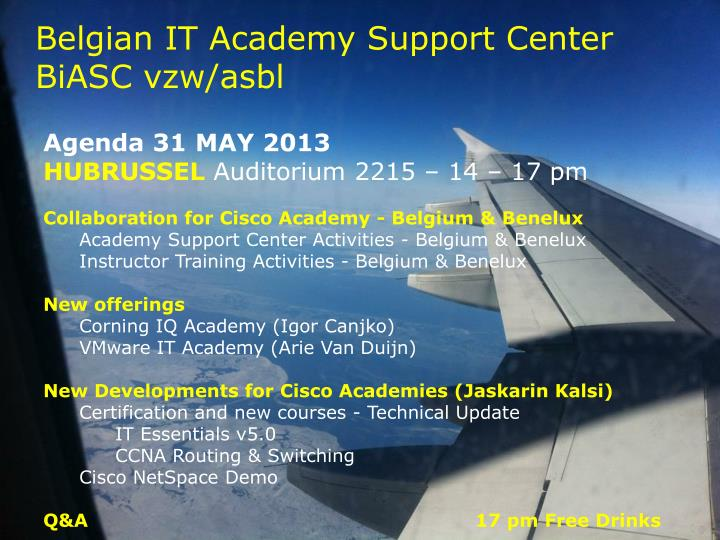 belgian it academy support center biasc vzw asbl n.