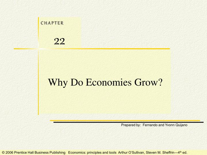 why do economies grow n.