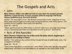 the gospels and acts1