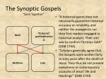 the synoptic gospels seen together