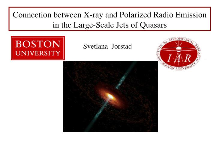 connection between x ray and polarized radio emission in the large scale jets of quasars n.