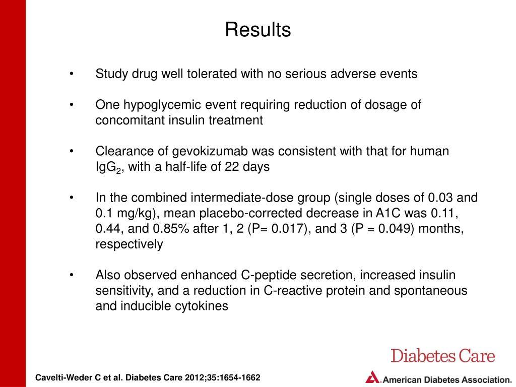 diabetes mellitus gevokizumab