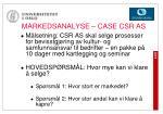 markedsanalyse case csr as