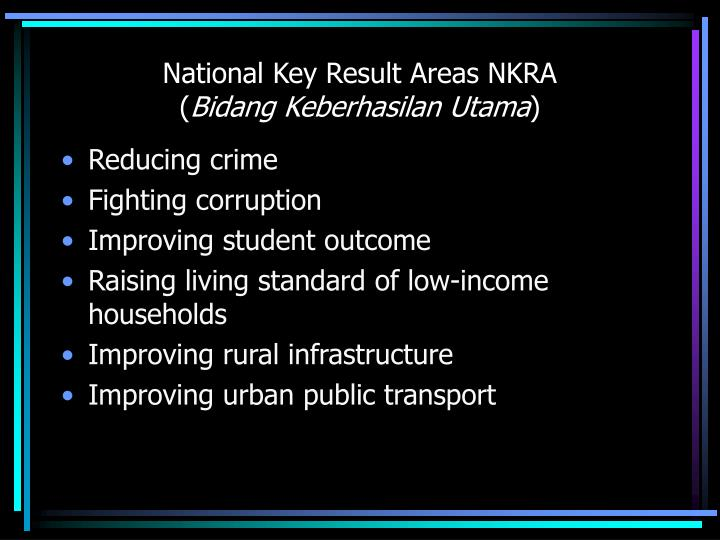 National Key Result Areas NKRA