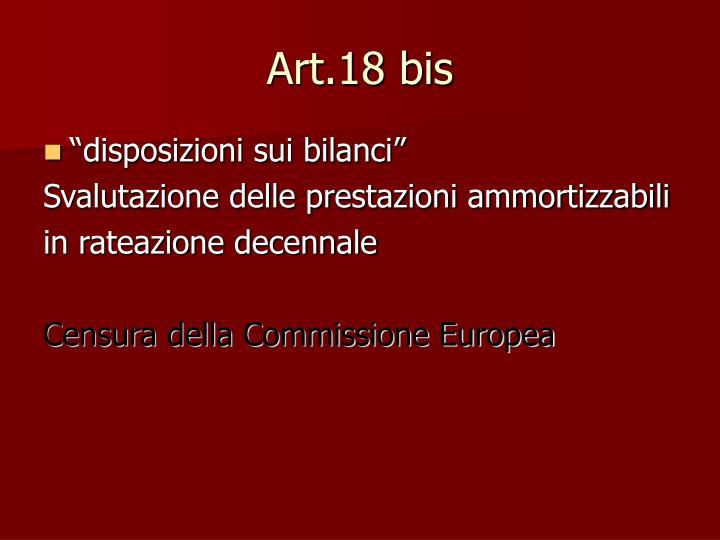 Art.18 bis