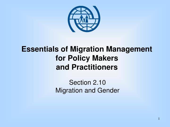 essentials of migration management for policy makers and practitioners n.