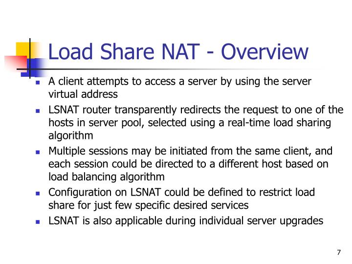 Load Share NAT - Overview