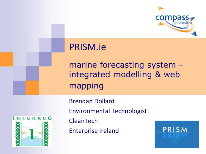 prism ie marine forecasting system integrated modelling web mapping n.