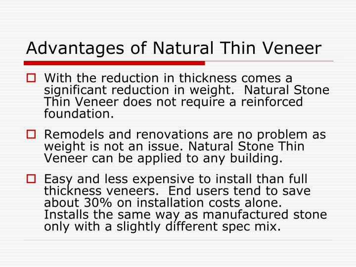 Advantages of Natural Thin Veneer
