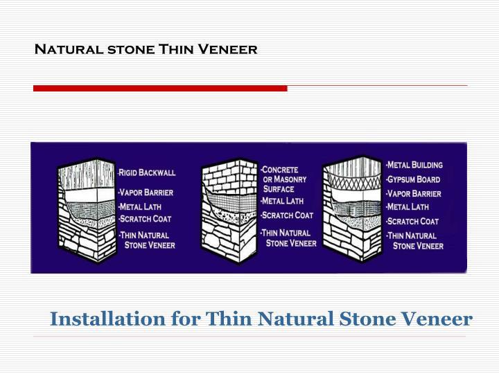 Natural stone Thin Veneer