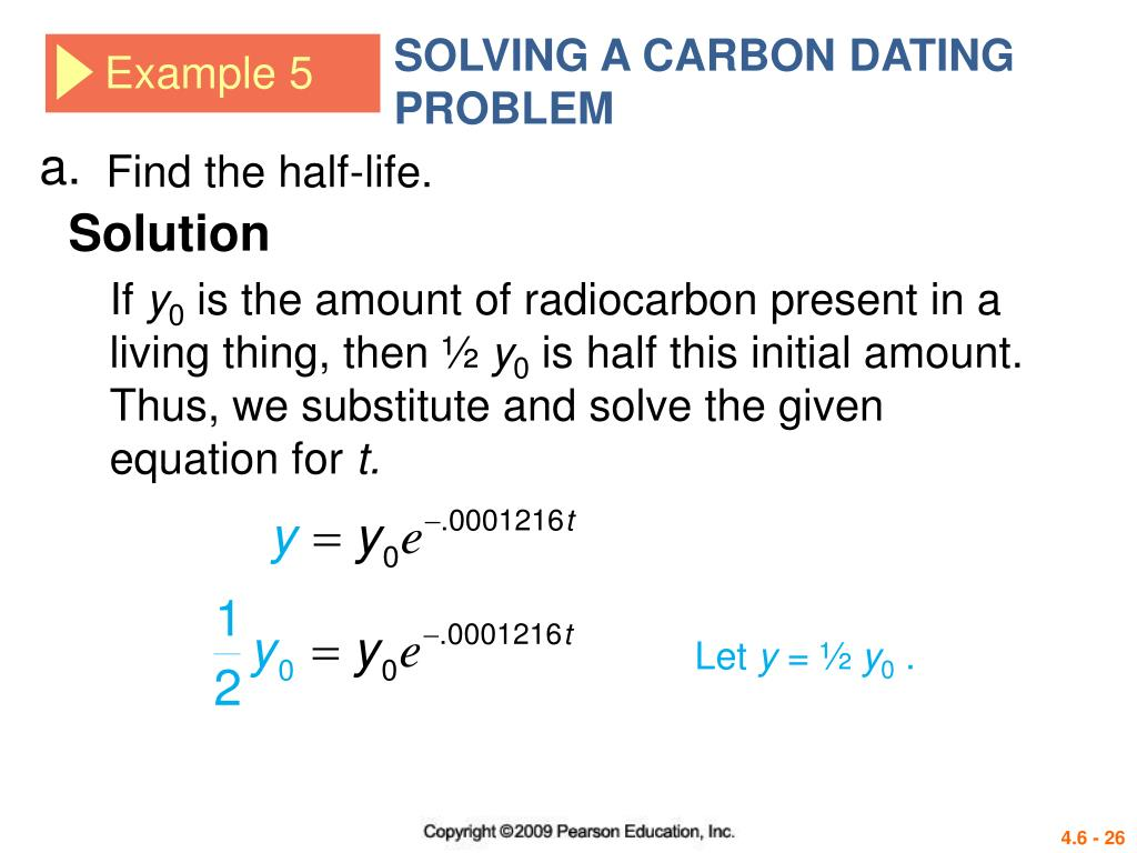 how to calculate half life carbon dating