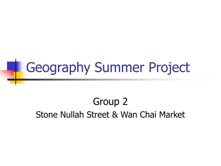 geography summer project n.