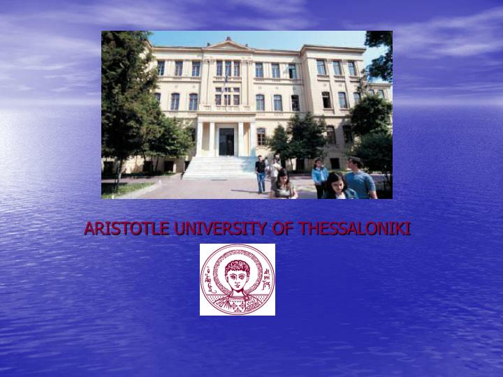 aristotle university of thessaloniki n.