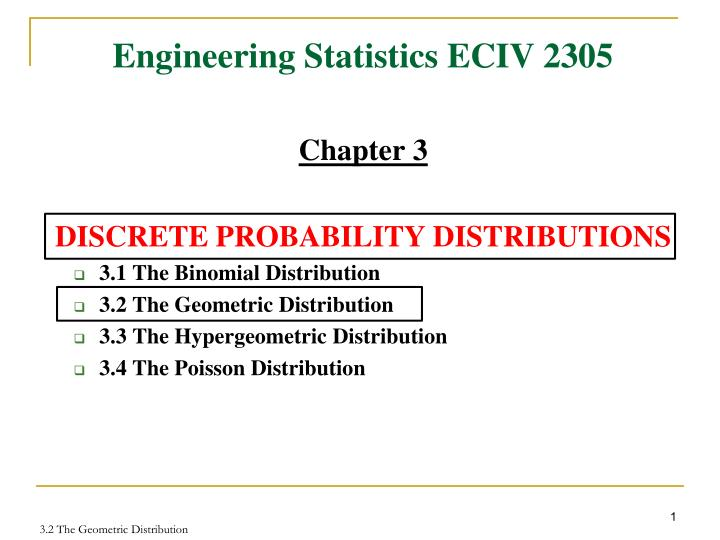 PPT - Engineering Statistics ECIV 2305 PowerPoint Presentation - ID