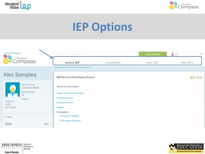 IEP Options