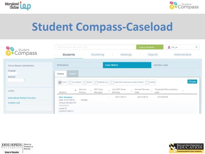 Student Compass-Caseload