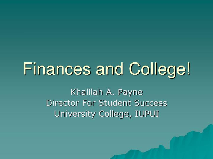 finances and college n.