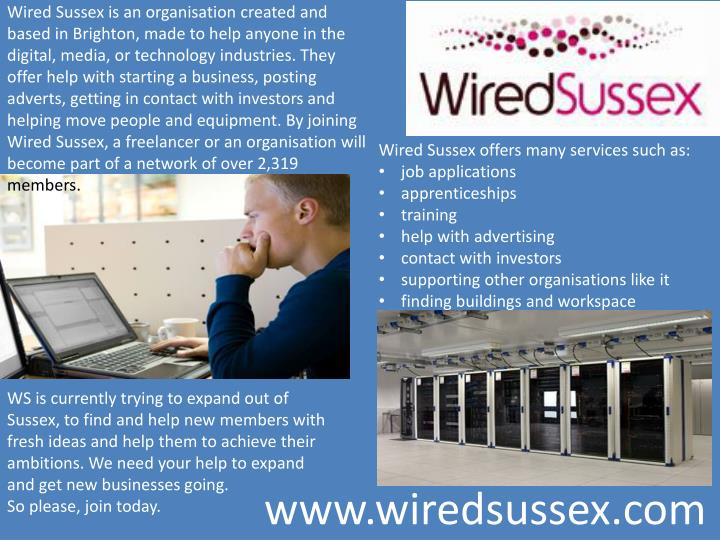 Wired Sussex is an organisation