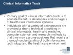 clinical informatics track