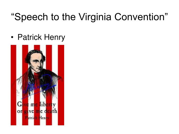 """""""Speech to the Virginia Convention"""""""