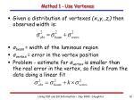 method 1 use vertexes