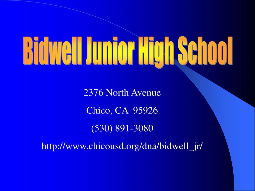 Ppt Bidwell Junior High School Powerpoint Presentation Free Download Id 5849822