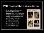 1941 state of the union address