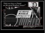 did you have a friend on the good rueben james