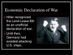 economic declaration of war