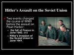 hitler s assault on the soviet union