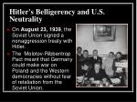 hitler s belligerency and u s neutrality