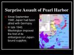 surprise assault of pearl harbor