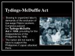 tydings mcduffie act