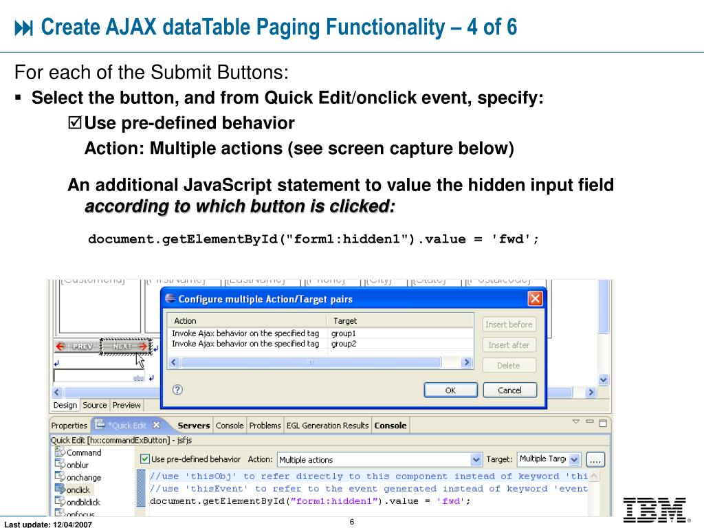 PPT - Combining AJAX With dataTable Paging PowerPoint