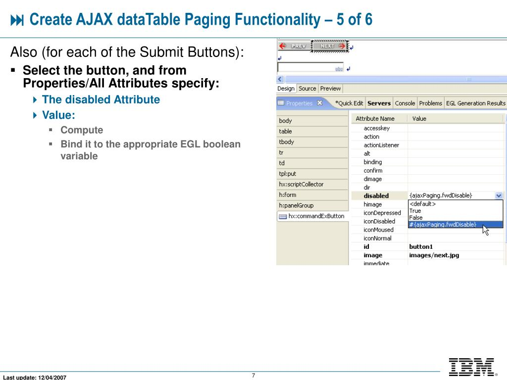 PPT - Combining AJAX With dataTable Paging PowerPoint Presentation