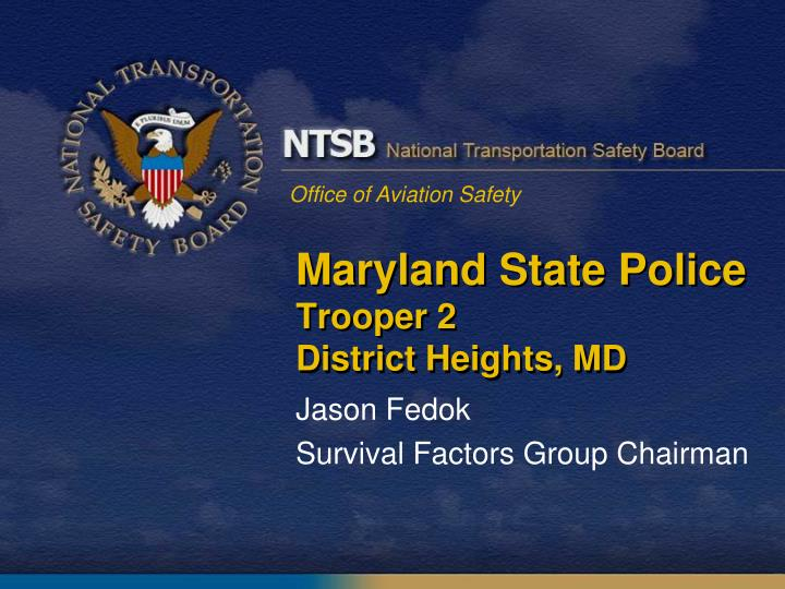maryland state police trooper 2 district heights md n.