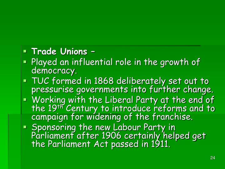 Trade Unions –
