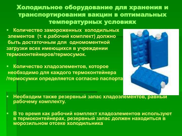 Температурный режим хранения медицинских иммунобиологических препаратов